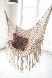Knotted Hammock Chair White Macrame Hammock Patina