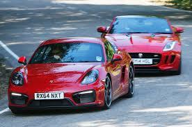 jaguar f type vs porsche 911 jaguar f type coupé versus porsche cayman gts