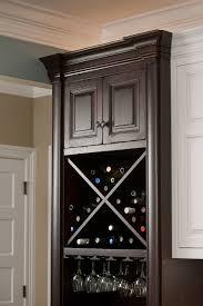 archaic dark brown wooden kitchen wine rack cabinet with square