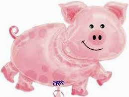 pig balloons pig balloon pink pig shaped mylar balloon