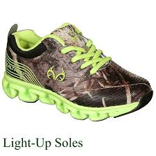 Lime Lights Shoes Realtree Outfitters Firefly Youth Camo Light Up Tennis Shoe Lime