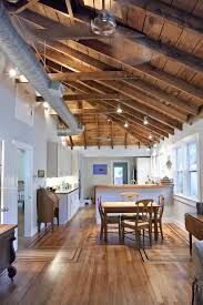 exposed ceiling kitchen traditional with duct wine and bottle openers