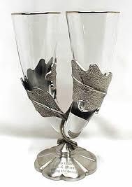 wedding goblets black forest wedding toasting glasses