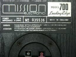 Mission 700 Bookshelf Speakers Vintage Mission 700 Leading Edge Bookshelf Used Sold