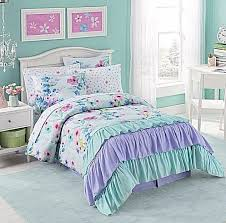 Girls Bed In A Bag by Comforter Sets For Girls Full Ruffle Kids Bed In A Bag Purple Teal