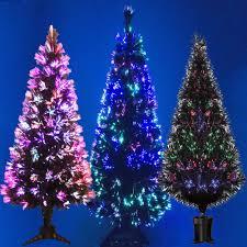 black fibre optic christmas tree colour changing 2ft 3ft 4ft 5ft