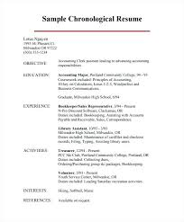 exles of chronological resumes sle of a chronological resume hire me 101 buckey us