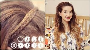 how to halo braid zoella youtube