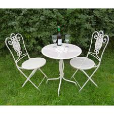 outdoor iron table and chairs metal garden furniture bistro sets benches homegenies