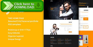 Online Resume Portfolio by Free Nulled James Resume Cv U0026 Personal Portfolio Psd Template
