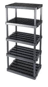 Shelving Units Amazon Com Adjustable 5 Shelf Medium Duty Shelving Unit Home