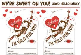 free printable monkey 60 free valentine u0027s day class card printables for children