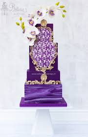 purple gold rococo wedding cake bellaria cake design bellaria
