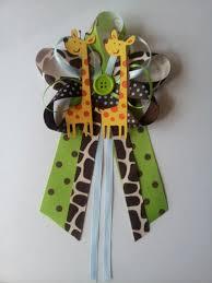 corsage de baby shower jungle safari or zoo giraffe baby shower pin corsage cricut