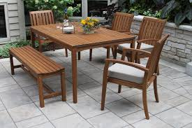 eucalyptus hardwood rectangle dining table for outdoor use
