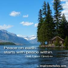 peace on earth starts with peace within inspire me today