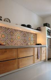 kitchen tiled splashback designs fantastic colourful wall feature maroc 1415 all kitchenwall