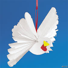 tissue paper accordion wing dove ornament craft kit