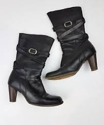 ugg s jardin boot ugg australia jardin boot black leather heel size us 6 5 ebay