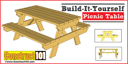 Free Diy Table Plans by Picnic Table Building Plans How To Diy Projects