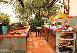 Outdoor Kitchen Design Ideas Back Yard Fireplace Images Spanish Style Outdoor Kitchen Backyard