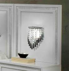 Chevet Design Blanc Laque by Dessus Du Chevet Avec Lampe Krystel Laque Blanc