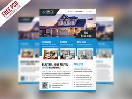 real estate brochure templates psd free free psd clean real estate flyer psd template by psd freebies