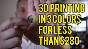 modifying a cheap chinese 3d printer for multi material color