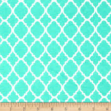 quatrefoil turquoise white from fabricdotcom 0a 0athis cotton