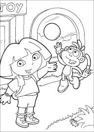 dora and boots in christmas coloring pages dora the explorer