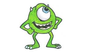 draw mike wazowski easy kids coloring europe travel
