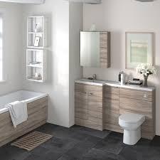 Hudson Reed Bathroom Furniture Hudson Reed Combination Furniture Basin Driftwood 1500 Left