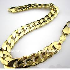 chain link bracelet gold images Men s bracelet curb chain link k yellow gold filled mens bracelet jpg