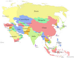 asain map asia political map travel maps and major tourist attractions maps