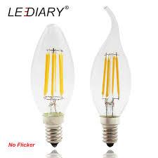 light bulbs that flicker like candles lediary 5pcs lot flicker free led filament bulb c35 e14 2 4 6w 100v