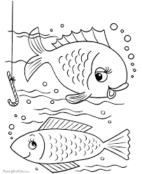 free printable pictures fish kids coloring