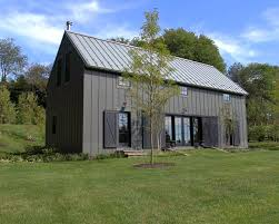 Metal Siding For Pole Barns Barn Style Exterior With Galvanized Siding And Red Windows