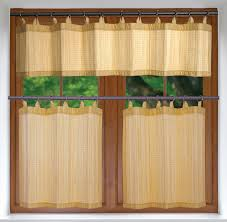Drapery Puller Kitchen Tier Curtains Versailles Bamboo Kitchen Curtains Or