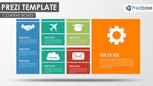 Simple Business Model Template Tiles Prezibase