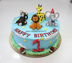 jungle theme cake animal jungle theme small personalized eggless 3d cake for 1st