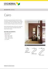 Gyprock Cornice Profiles Decorative Cornice Cairo 50 75 U0026 100mm Profile Usg Boral