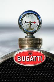 1928 bugatti type 44 cabriolet ornament emblem photograph