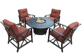 Patio Set With Firepit Table by Outdoor Patio Furniture Set With A Fire Pit 8 Designs Outdoor