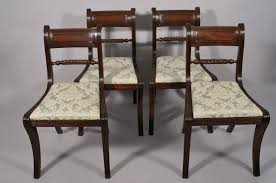 Antique Mahogany Dining Room Furniture Dining Chairs Reproduction Chair Regency Style Dining Room