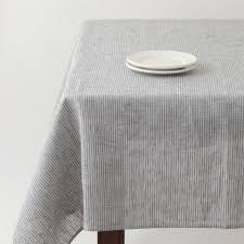 tablecloth grey white thin stripe gray linen tablecloth and linens