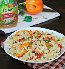 sun drenched italian pasta salad easy recipe made with wish bone