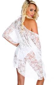 white lace swimsuit cover up beach vacation wear kimono