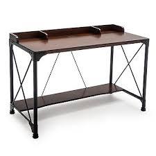 Industrial Writing Desk by Industrial Writing Desk Rustic Office Furniture Metal Wood
