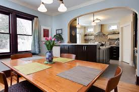 Kitchen Open To Dining Room St Paul Bungalow Contemporary Kitchen Remodel Traditional
