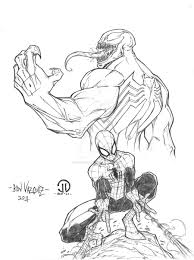 anti venom sketch colors by joeyvazquez on deviantart